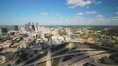 interestadual : Atlanta Aerial v366 Flying low over freeway interchange area downtown sunny cityscape 1117