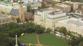 santuário : South Carolina Charleston Aerial v17 Birdseye detail view of Marion Square panning 1017