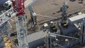 yükleme : South Carolina Charleston Aerial v94 Birdseye view of ship detail and crane 1017