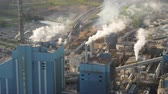 birdseye : South Carolina Charleston Aerial v107 Panning detail view of paper mill 1017 Stock Footage