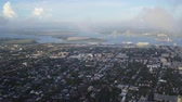 ilham vermek : South Carolina Charleston Aerial v125 Slow panning view of cityscape 1017 Stok Video