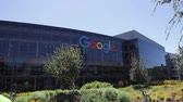 značky : Mountain View, California, USA - August 15, 2016: Google sign on one of the Google buildings. Exterior view of headquarter colorful building. Google is leader in Internet services Dostupné videozáznamy