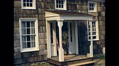 70年代 : OLD BETHPAGE, NEW YORK - circa 1970: Old Bethpage Village Restoration, living history museum about Long Island life during 19th century. Houses, barns, and buildings from 1765 through 1865 動画素材