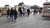 sf : San Francisco, California, United States - August 14, 2016: people and tourists at Fishermans Wharf district at Pier 39 along the Embarcadero in San Francisco. Leisure, holidays and travel concept.