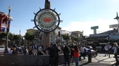 sf : San Francisco, California, United States - August 14, 2016: people at Fishermans Wharf square under the famous signboard of San Francisco. San Francisco street view. Sunny day, blue sky