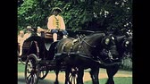 arşiv : Williamsburg, Virginia, United States - in 1980: The historical colonial Williamsburg Historic Area of USA in 80s archival . Actors in 1700 dress and horse chariots for tourists.