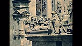 vezetett : Saint-Thegonnec, Morlaix, Brittany, FRANCE - July 15, 1976: archival statues details and crosses of the Notre-Dame church at Saint-Thegonnec parish. Restored archival from 70s in France.
