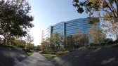sivrilmek : Sunnyvale, California, United States - August 13, 2018: Microsoft skyscrapers HQ in Silicon Valley. Microsoft is the biggest software house for PC OS and office applications.