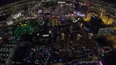 kozmopolita : Las Vegas, Nevada, United States - August 18, 2018: aerial view of Las Vegas Strip Skyline illuminated by night. Scenic flight above: Cosmopolitan, The Paris Las Vegas and Bellagio Casino and Hotel.