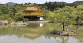 quioto : Kinkaku-ji, Golden Pavilion, famous buddhist temple zen of Rinzai sect in Kyoto reflected in the lake. The Rokuonji is one of most visited Kyoto temples. Concept of Buddhism and meditation.