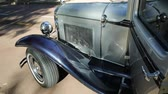 main street : Guildford, Swan Valley, West Australia - December 2017: Luxury Limousine, the Ford Model A used for wedding services. An old Limo of 1930s made in the United States.