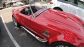 cobra : Los Olivos, California, United States of America - August 11, 2018: red cabriolet AC Shelby Cobra 427 Flip-Top of 1960s.