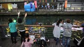 modla : Osaka, Japan - April 29, 2017: singing Japanese idol girls in concert with little fans dancing. Dotonbori Canal at blue hour in Namba District, a popular shopping and entertainment district. Dostupné videozáznamy