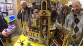 inauguration : BOLOGNA, ITALY- DECEMBER 6, 2018: interior of the toy store of Bologna of Lego bricks. Located in Via Indipendenza street. Harry Potter Hogwarts Castle close up in Lego blocks.