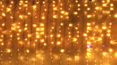 ziyafet : Copy space background with golden Christmas lights in yellow and orange colors.