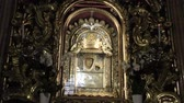 emilia : Bologna, Italy - January 12, 2018: altar with Madonna with child icon, popular devotion of faithful and pilgrims. Interior Madonna of San Luca sanctuary, a basilica dedicated to Marian Catholic cult.