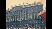 banking house : BRUSSELS, BELGIUM - CIRCA 1975: House of the Dukes of Brabant in Grand Place. Historical palace: Les Choux de Bruxelles with office of Kbc Private Banking. Bruxelles capital city of Belgium in 1970s.