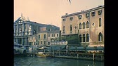 アーカイブ : Venice, Italy - circa 1980: Scalzi Bridge and Santa Maria di Nazareth church. Archival of Venezia city of Italy in 1980s. 動画素材