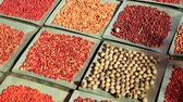 тапки : Background with different and colorful bush seeds. Australia bush food eaten by Australian aborigines. Northern Territory.