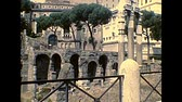 coliseu : ROME, ITALY - circa 1986: the Roman Forum in Rome city. Historical archival of Rome capital of Italy in the 1980s.