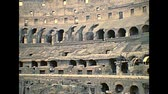 coliseu : ROME, ITALY - circa 1986: the Roman coliseum interior, the largest amphitheater in the world and one of the symbol of Rome city. Historical archival of Rome capital of Italy in the 1980s.