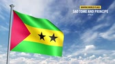 bandeira : 3D flag animation of Sao Tome and Principe