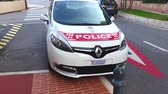 fontvieille : Fontvieille, Monaco - September 29, 2016: Renault Scenic III TCe Police Car (Front View), Car of Monaco Police Patrol on the City Street of Fontvieille In Monaco, French Riviera