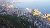 fontvieille : Aerial Panoramic View of the City and Monaco Fontvieille District, French Riviera in the South of France