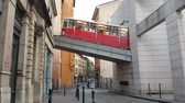 inclinado : Lyon, France - February 18, 2017: Funicular F2 (Funiculars of Lyon) Going Up To The Fourviere in Lyon Station
