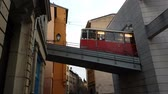 inclinado : Lyon, France - February 18, 2017: Funicular F2 (Funiculars of Lyon) Going Down To The Cathà © Saint-Jean cathedral in Lyon Station