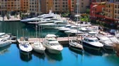 fontvieille : Boat And Yacht Marina Tilt-Shift - Harbor Fontvieille in Monaco Monte Carlo