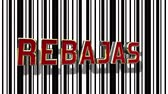 хром : Spanish Sale (Rebajas) Red And Gold 3D Text Animation With White And White Barcode Abstract Line Background - 4K Resolution Ultra HD Стоковые видеозаписи