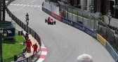 mounted : Monte Carlo, Monaco - May 11, 2018: F1 Grand Prix cars (1961 - 1965). Free Practice Sessions. Old Racing Cars of Historic Grand Prix of Monaco 2018 in Front of the Monte Carlo Casino - DCi 4K Resolution