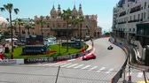 mounted : Monte-Carlo, Monaco - May 11, 2018: Old Racing Cars of Grand Prix History of Monaco 2018 in Front of the Monte Carlo Casino, Casino Square - 4K Resolution