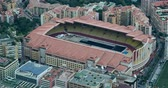fontvieille : Fontvieille, Monaco - May 17, 2018: Aerial view of Louis II Stadium, The Stadium is Located in the Fontvieille District. Home of Monaco and the Monaco National Football Team - DCi 4K Resolution
