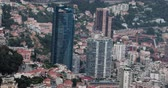mounted : Monte-Carlo, Monaco - May 17, 2018: Beautiful City, Monaco, French Riviera, Europe - DCi 4K Resolution - Beautiful Aerial View of Modern Skyscraper Odeon Tower, Houses, Downtown in Monte Carlo