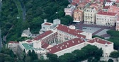 mounted : Monaco-Ville, Monaco - May 18, 2018: Beautiful Aerial View of the Princes Palace of Monaco, Principality of Monaco on the French Riviera, Europe - 4K Resolution Stock Footage