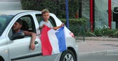 celebridade : Menton, France - July 15, 2018: 2018 FIFA World Cup Russia: France Celebrate In Menton Supporters After Winning The World Cup With 4-2 Victory Over Croatia - DCi 4K Resolution Vídeos