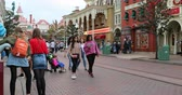 Marne-la-Vallee, France - October 14, 2018: People In The Main Street USA At Disneyland Paris In France (Euro Disney), Marne-la-Vallee, Ile-de-France, France, Europe - DCi 4K Resolution