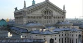 Paris, France - October 16, 2018: Aerial View Of Paris With The Paris Opera Building From Roof Terrace Of Galeries Lafayette Department Store, France, Europe - DCi 4K Resolution