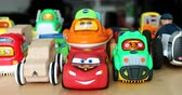 Menton, France - December 10, 2018: The Various Aligned Toy Cars For Children. Funny Multicolor Plastic Toy Cars For Babies With Lights. VTech Go! Go! Smart Cars Cars, Disney Cars, Cars Cars - DCi 4K Resolution