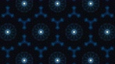 döndürmek : Virtual kaleidoscope sequence patterns, infinity or seamless loop. Abstract animation, good for party, motion graphics, meditation, clubs, shows or concert videos. Stok Video