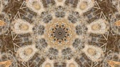 díszítő : Virtual kaleidoscope sequence patterns, infinity or seamless loop. Abstract animation, good for party, motion graphics, meditation, clubs, shows or concert videos. Stock mozgókép