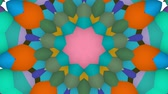 Virtual kaleidoscope sequence patterns, infinity or seamless loop. Abstract animation, good for party, motion graphics, meditation, clubs, shows or concert videos. Стоковые видеозаписи