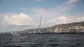 regata : Maxi Jena powered tempus fugit boat winner the second place of the 49 Barcola