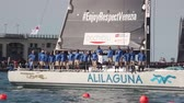 regata : Pendragon Alilaguna boat winner the third place of the 49 Barcolana regatta i