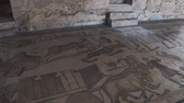 mimari : PIAZZA ARMERINA, ITALY - APRIL, 24: Mosaics of the Roman Villa at the Casale, large and elaborate Roman villa designated as a UNESCO World Heritage Site, famous for the extraordinary collection of frescoes and mosaics on April 24