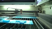 laser cutting : Operation of the laser machine. Acrylic processing. Movement of a tube.