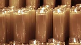 chamas : Lighted wax candles video