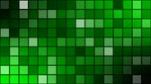 mozaik : animated mosaic with dark grid -backgroundvideo- green screen Stok Video